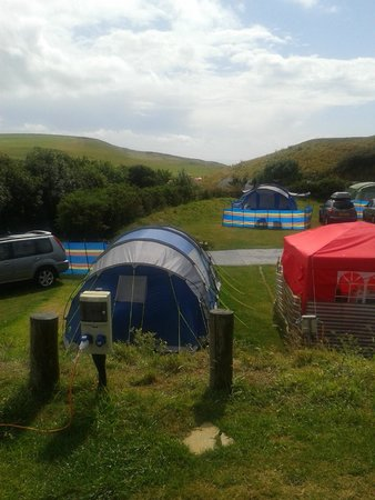 Freshwater Beach Holiday Park: sea view on pitch V3 V1 would have been better