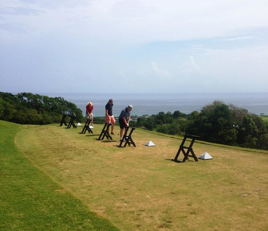 White Witch Golf Course: The practise area