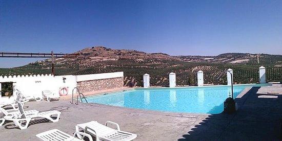 Hacienda Minerva: La piscine et sa vue