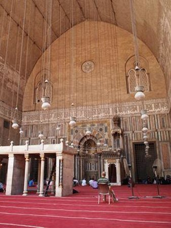 Mosque and Madrasa of Sultan Hassan : 男性用の礼拝スペース