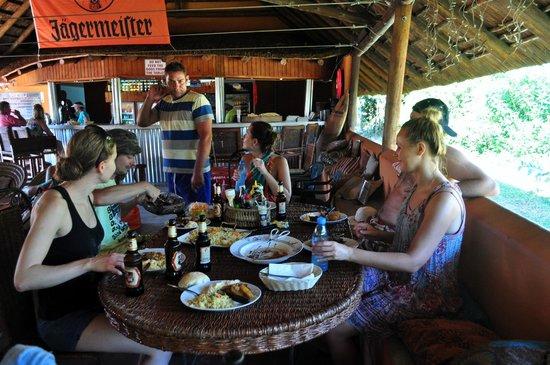 Praia de Peixe: great feast with our host Stephane