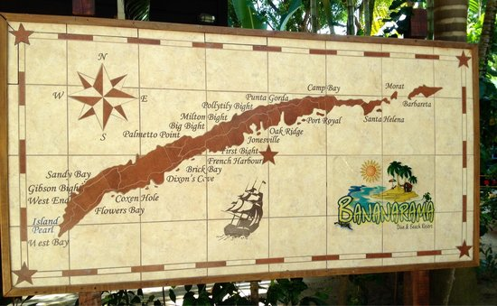 Bananarama Beach and Dive Resort: Map of the island