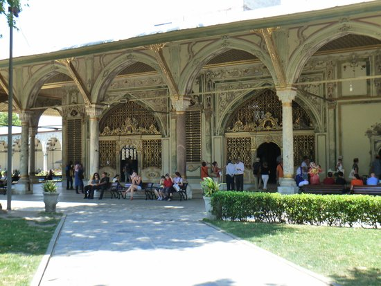 Historic Areas of Istanbul : Outside the Harem at Topkapi Palace