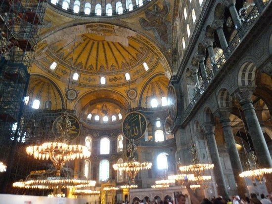 Historic Areas of Istanbul: Inside the Hagia Sofia