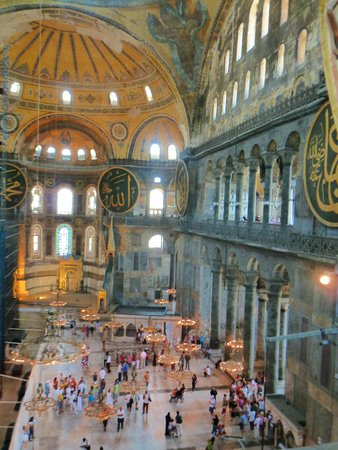 Historic Areas of Istanbul: View from the galleries in Hagia Sofia