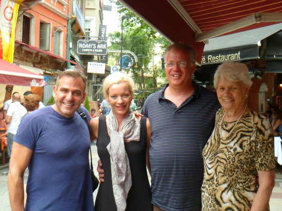 Historic Areas of Istanbul: We bumpt into world renowned South African singer Andre Swartz and his mom!