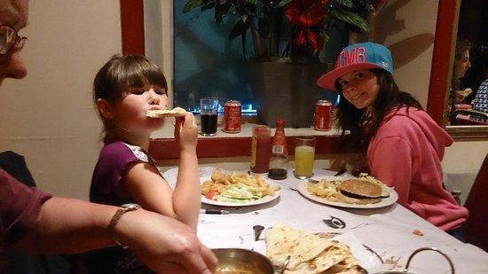 Little India: English Children's Menu Served.