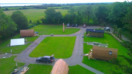 Wallsend Guest House, Wigwams and Tea Room: Aerial view Wigwam site