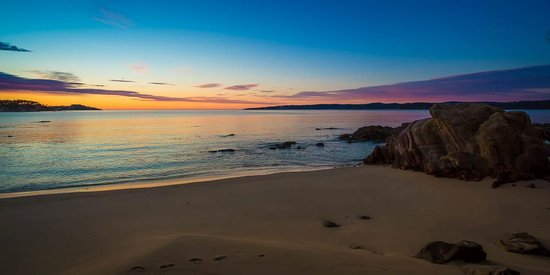 Eden Beachfront Holiday Park on sunset
