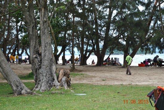 Manukan Island: пляж