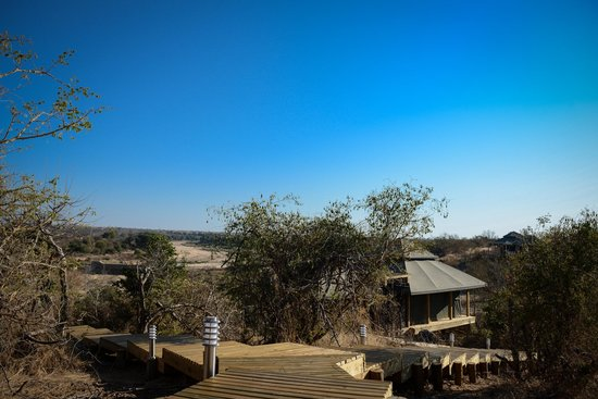 Simbavati Hilltop Lodge : View of the lodge