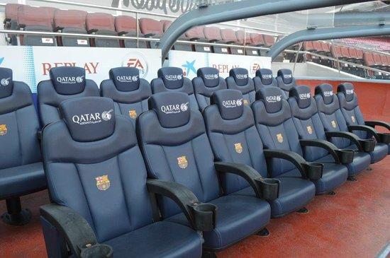 Camp Nou : Banc des joueurs