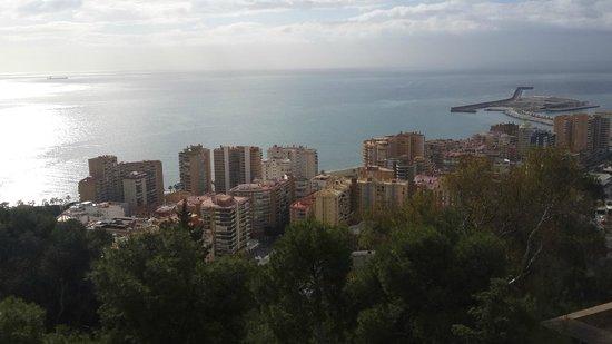 Parador de Malaga Gibralfaro : Vue le matin