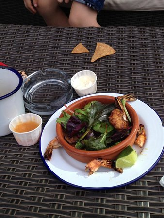 Lucha Libre: The sour cream was an extra cost the prawns were £pricey