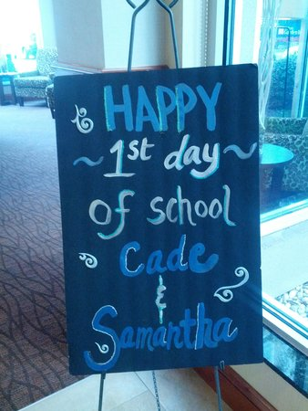 Hilton Garden Inn Columbia - Harbison: sign for my kids!  :)