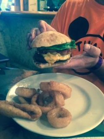 Holiday Inn Club Vacations Cape Canaveral Beach Resort: Burger and Onion Rings