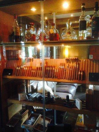 La Val Bergspa Hotel: bacheca umidificatore per sigari