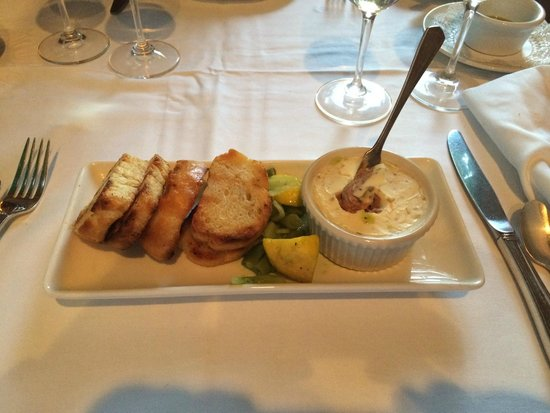 Joshua Wilton House: Pate with truffle butter