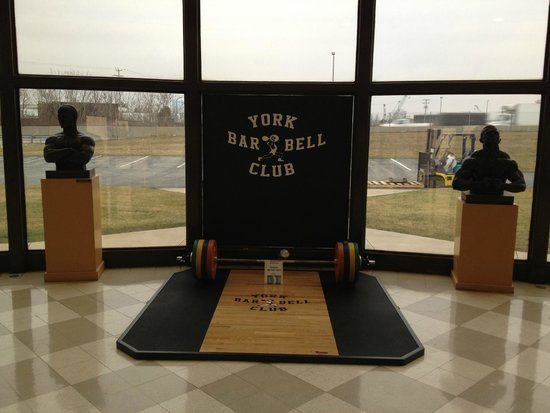 York Barbell Hall of Fame: Inside lobby area