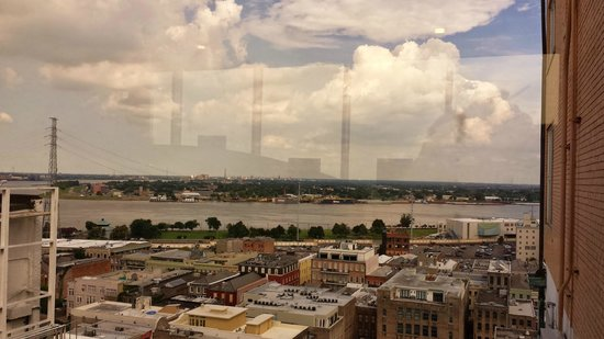 Hotel Monteleone: View of the Mississippi from our sitting area