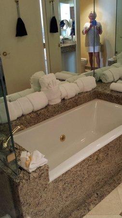 Hotel Monteleone: Our bathroom