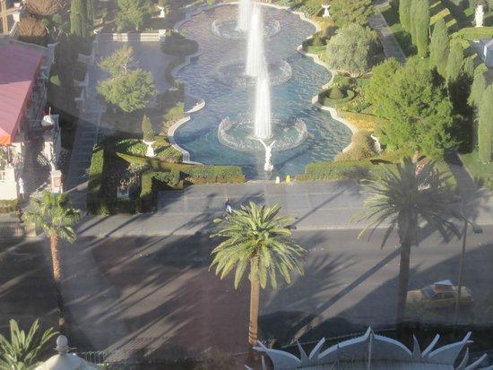 Flamingo Las Vegas Hotel & Casino: утренние фонтаны