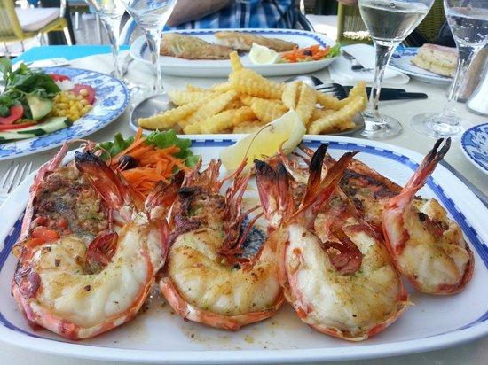 Restaurante Mar Azul: Les gambas tigre