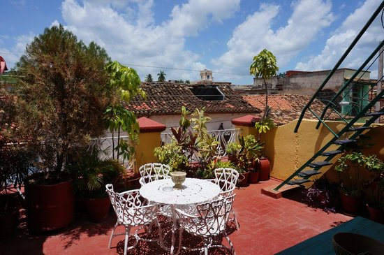 Hostal Bastida: part one of the roof terrace