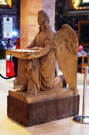 St Giles' Cathedral: An Angel holding a baptism font