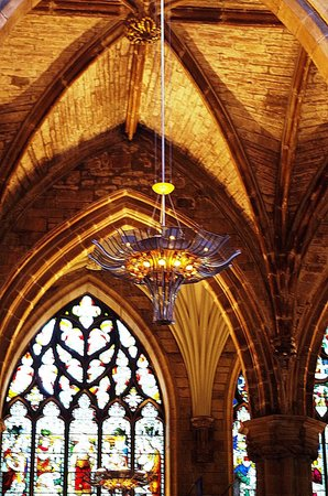 St Giles' Cathedral: An unique chandelier inside the St Giles Cathedral