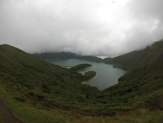 Lagoa do Fogo: view from the very top