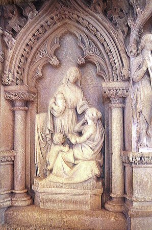St Giles' Cathedral: A beautiful wall sculpture