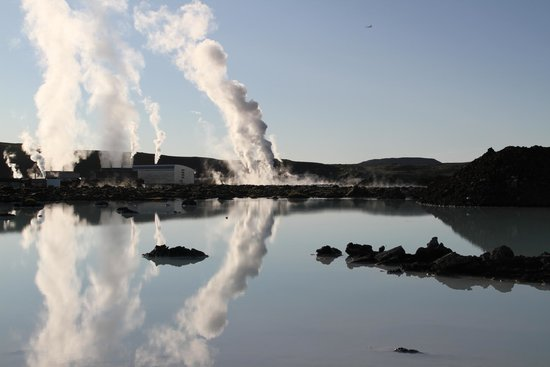The cause for the Blue Lagoon is the hot and silica saturated overflow water from a geothermal p