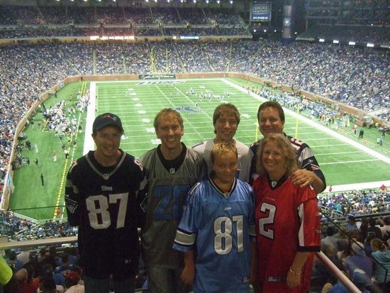 Ford Field : Lions game.