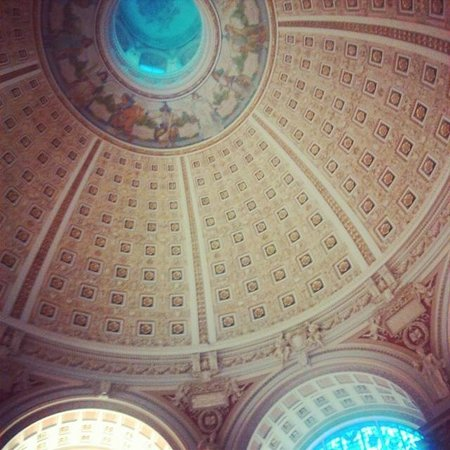 The Library of Congress dome - stunning.