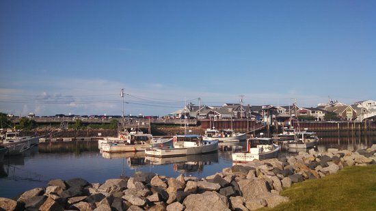 View of harbor Riverside Motel
