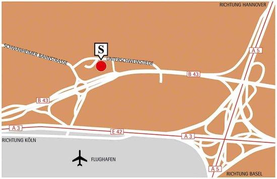 Steigenberger Airport Hotel: Map