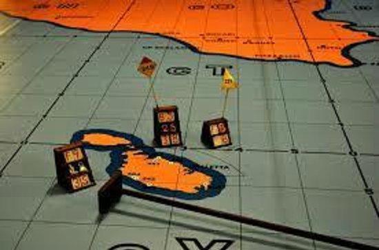 Lascaris War Rooms: Sicily and Malta map