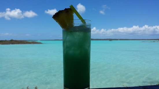 """Las Brisas Restaurant: The drink is called the """"Chalk Sound"""" to match the water"""