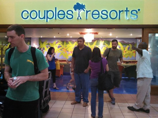 Couples Swept Away: Airport lounge