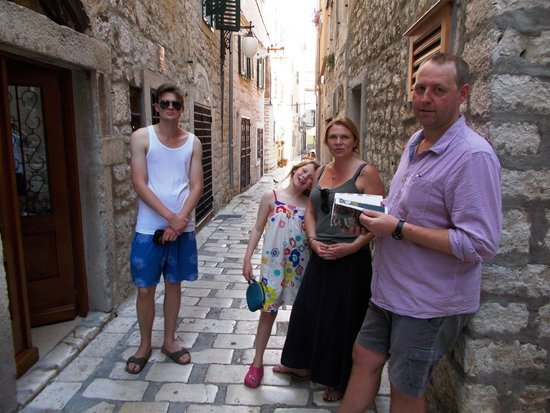 The Cathedral of St James in Sibenik: One of the many back streets