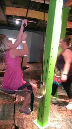 Arizona Science Center: Trying to Lift Yourself (Pulleys)
