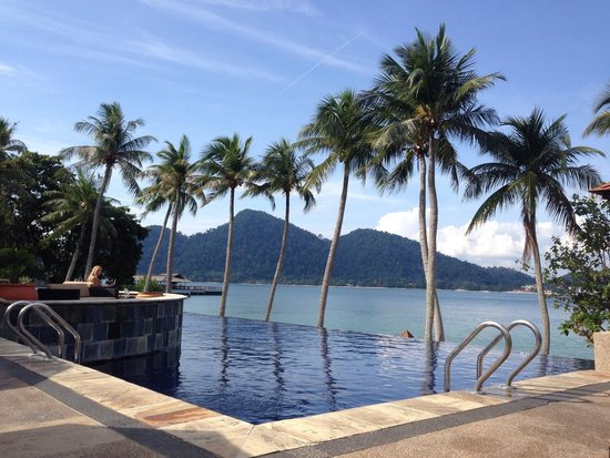 Pangkor Laut Resort: View from the poolside
