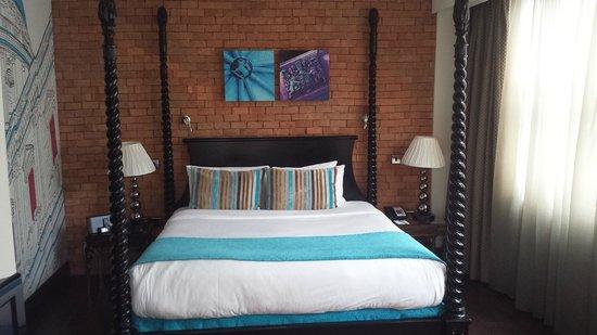 Hotel Indigo London Tower Hill: Tolles Zimmer in schönen Farben