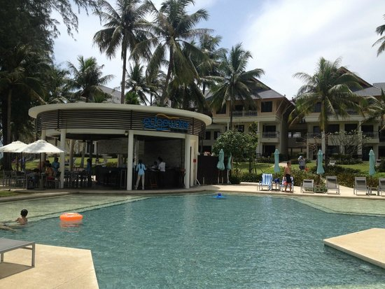 Outrigger Laguna Phuket Beach Resort: one of the pools and great restaurant for burgers and pizzas