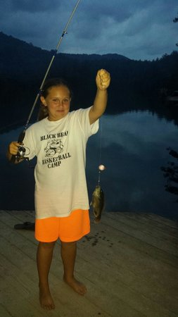 Cascade Lake Recreation Area: Samantha catching her first fish