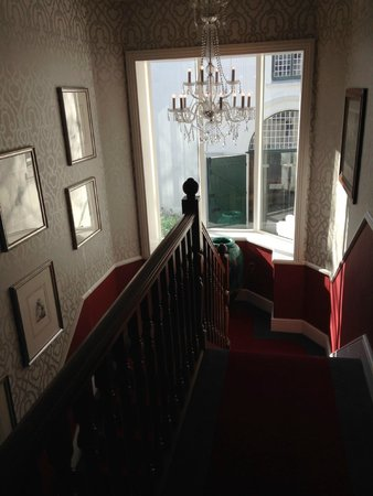 The Alphen Boutique Hotel: The staircase in the old building where our room was situated
