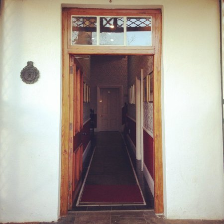 The Alphen Boutique Hotel: doorway to the old building where our room was
