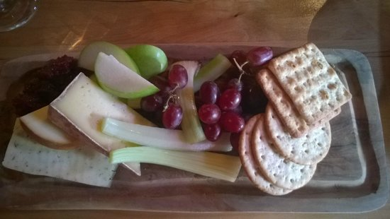 The Treehouse Restaurant at the Alnwick Garden: Selection of Northumbrian Cheeses