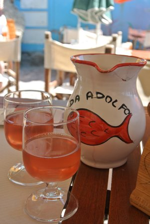 Da Adolfo: house rose wine